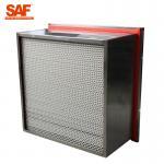 China Aluminum Cardboard High Temperature Hepa Filters Glass Fiber Filter Material for sale