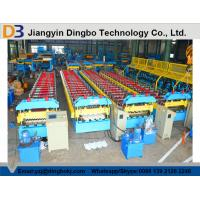 Chain Drive System Roof Panel Roll Forming Machine With Cr12 Metal Steel for sale
