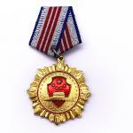 Plating Gold Brass Custom Metal Medals , Custom Award Medals For Souvenir for sale