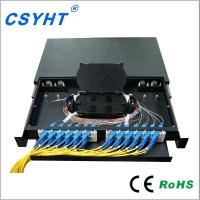 China Plastic Angled Adapter 19 Rack Mount Fiber Patch Panel For FTTH FTTB FTTX Network for sale