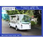 China 11 Person 4 Wheels Electric Tourist Car / Electric Sightseeing Bus With Vacuum for sale