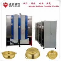 Stainless Steel Pot Titanium Nitride Coating Machine, TiN gold decorative coating on stainless steel kitchenware for sale