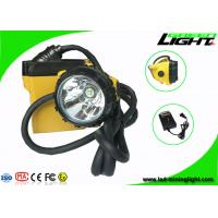 SAMSUNG Battery Led Miners Cap Lamp IP68 Waterproof 25000 Lux Brightness Rechargeable for sale