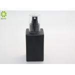 120ml 4oz Square Matte Black Skincare Custom Glass Fine Mist Spray Bottle for sale