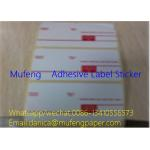 China Printed Adhesive Backed Paper Roll , Direct Thermal Transfer Labels SGS Approval for sale