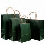 Roller Printing Medium Paper Bags With Handles / Kraft Paper Bags Machine Made for sale