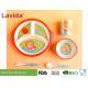 3-section Round Shape Dishwasher Safe Bamboo Childrens Dinner Set , Reusable Melamine Dinnerware Sets for sale