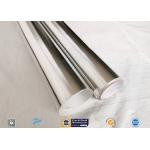 0.43mm Light Reflective Silver Coated Fabric Aluminium Foil E Glass Fabric For Pipes for sale