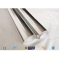 Good Hermetic Laminated Aluminium Foil Fiberglass Fabric Smooth Surface for sale