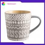 Silkscreen Printed Cearmic Coffee Mugs Stoneware Tableware Mug Set Eco Friendly for sale