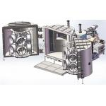 Chrome PVD Magnetron Sputtering Coating Machine , Vehicle Wheels PVD Chrome Vacuum Metallizer for sale