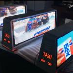 Customized Outdoor Full Color P5 Taxi Top Advertising Signs 9500K - 11500K for sale