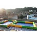 Colored Rectangular Kids Inflatable Pool for Water Park Games Using for sale