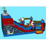 Customized Alien Space Theme Inflatable Dry Slide Kids Jumping Castle For Party for sale