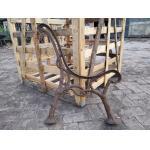 Patio Benches Street Leisure  Cast Iron Antique Cast Iron Legs Modern Plastic Wood Slat for sale