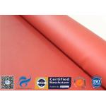 China Red Silicone Coated Fiberglass Fabric 17OZ 0.45MM Foundry Splash Protection for sale