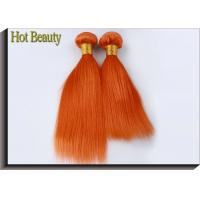 Customized Orange Hair Silk Straight 100% Human Hair Double stitch weft for sale