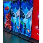 Led Display Poster  Screen size 760 mm x 1920 mm media player for sale