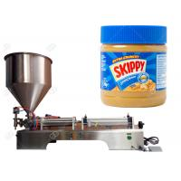 China Semi - Automatic Food Packing Machine Peanut Butter Jar Filling Machine for sale