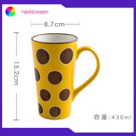 Stoneware 430ml Silkscreen Coffee Mugs Customized Personalised Mugs tall coffee mugs for sale