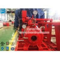 China Single Stage Horizontal Centrifugal End Suction Fire Pump Set With Diesel Engine With UL / FM Listed for sale