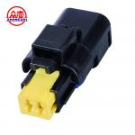 China Black Waterproof Auto Wire Connectors / Waterproof Electrical Connectors 2 Wire for sale