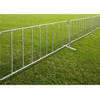 China Galvanized removable temporary crowd control barrier  outdoor traffic road for sale