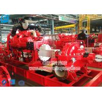 China NFPA 20 Standard Diesel Engine Fire Fighting Pump Set with Horizontal Split Case Fire Pump for sale