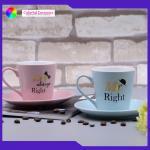 China Saucer Set Ceramic Cup And Saucer 200ml Tea Cup Customized Monogram Stonewarex Safe for sale
