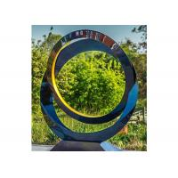 Circle Contemporary Decoration Stainless Steel Sculpture Artists 100cm Dia for sale