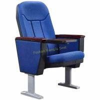 China Opera Music Hall Church Fold Up Auditorium Chairs With Aluminium Legs Customized Color for sale