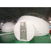 Two Rooms Luxury 8m Inflatable Bubble Tent With Hard Door For Hotel for sale