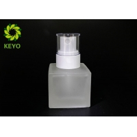 Entire Square Frosted Glass Bottle With White Plastic Sprayer In 30ml 1oz for sale
