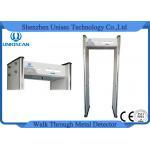 6 Zone Walk Through Safety Gate Metal Detector 5 Digital LED Count Display Way
