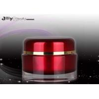 Frosty Evening Cream Red Height 48mm PMMA Cream Cosmetic Jars With Lids 30ML for sale