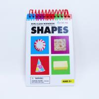 China 11 Sheets Wipe Clean Workbook Collection Shape Cards 108x165mm for sale