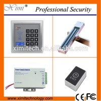 China Cheap door access control including magnetic lock, touch exit switch,power supply110-240V good quality access control kit for sale