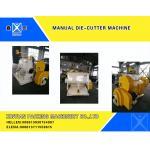 Semi-Automatic Carton Making Machine , Smooth Creasing Cutting Machine