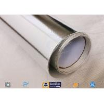 Heat Insulation 0.43mm Thick Aluminium Foil Coated Fiberglass Fabric for sale