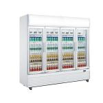 China 2010L Upright Display Chiller , Four Glass Door Chiller Display Fridge for sale