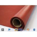 Heat Resistance Fiberglass Fabric Roll / Silicone Coated Fiberglass Fire Protection Cloth for sale