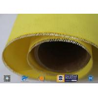 China 530g Yellow Silicone Coated Fiberglass Fabric With High Temperature Resistance supplier