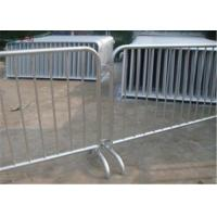 China customized metal concert outdoor high proformance galvanized  pvc coated  crowd control barrier for traffic road barrier for sale