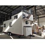 China Light Steel Trailer tiny homes / Caravan / Modular house on wheels / Movable mobile homes for sale