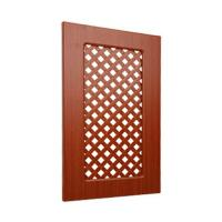 Ventilated Replacement Bathroom Cupboard Doors With Wood Grain Pvc Film Surface for sale