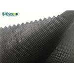 China Black Non Woven Polypropylene Fabric / Spunbond Polypropylene Fabric 50gsm for sale