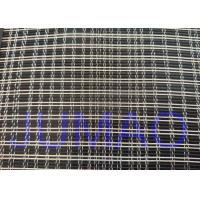 Black And Silver Color Metal Glass Laminated Mesh Fabric For Art Glasses for sale