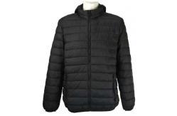 China men's basic nylon padded  jacket 1801&1802,Black and Navy supplier