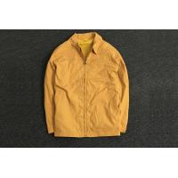 China Classic Durable Yellow Polyester Coat Jacket Oversize / Men's Casual Jackets for sale