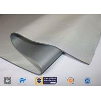 China 0.45mm High Temperature Resistant Silver Grey Silicone Coated Fiberglass Cloth supplier